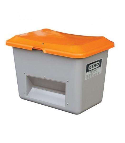 Cemo Streugutbehälter 200 Liter - 400 Liter mit Entnahmeöffnung