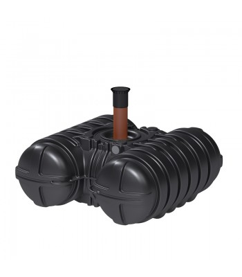 Roth Twinbloc Abwassersammelgrube 3500 Liter mit DIBt-Zulassung und Schacht DN 200-600