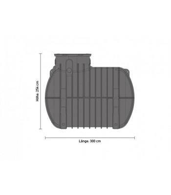 zisterne aquiri black line 10000 liter retention. Black Bedroom Furniture Sets. Home Design Ideas