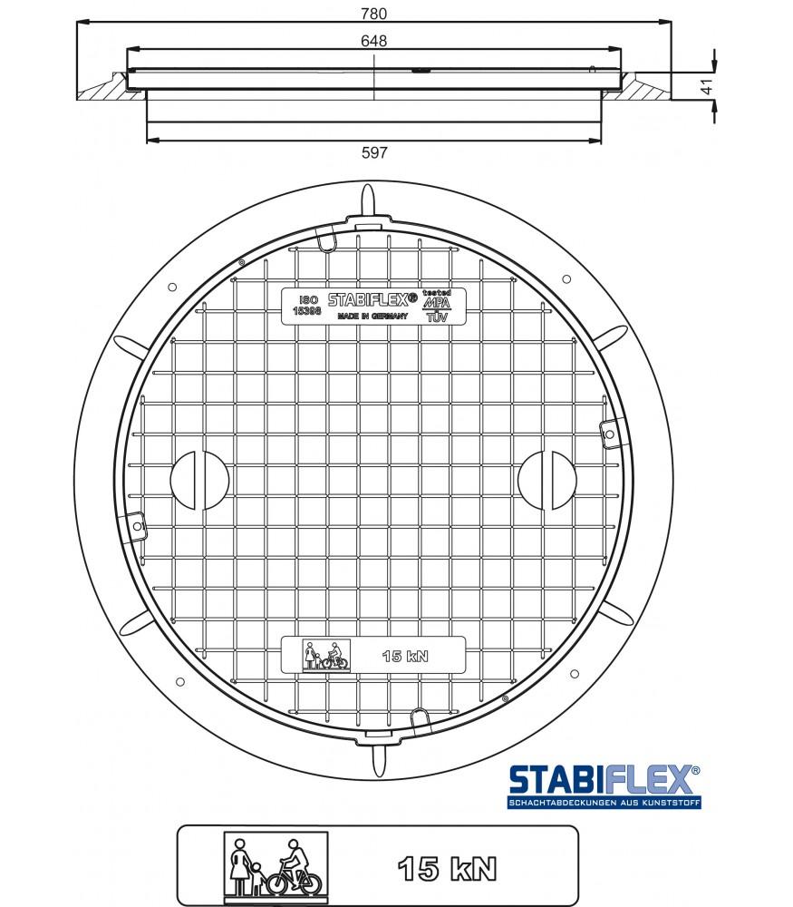 schachtabdeckung stabiflex mit flanschrahmen. Black Bedroom Furniture Sets. Home Design Ideas