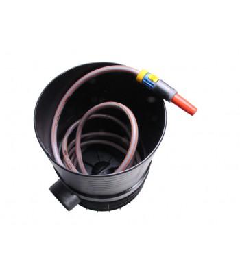 Wasseranschluss und Schlauchstaubox
