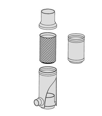 Blindeinsatz Filtersammler und Kunststofffiltersammler